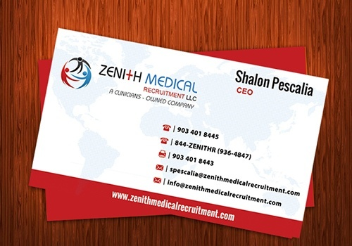Zenith Medical Visiting Card